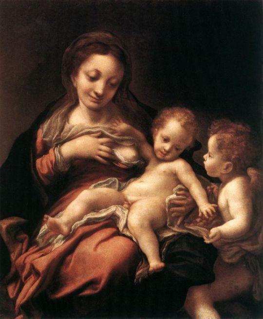 Мадонна с младенцем и ангелом