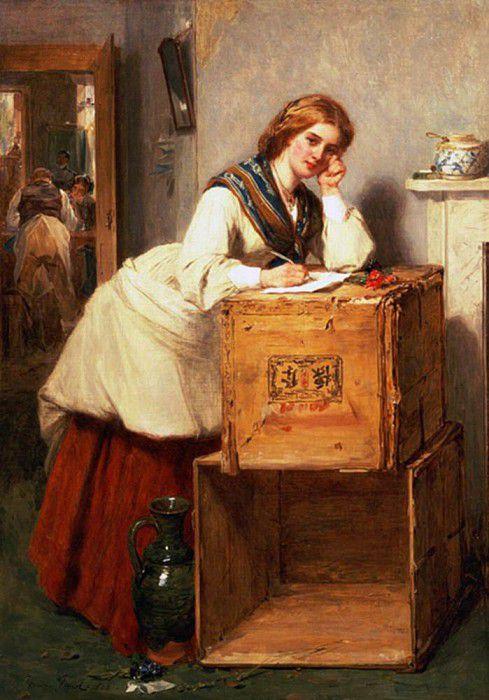 Дама пишет письмо