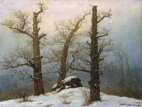 Дольмен в снегу