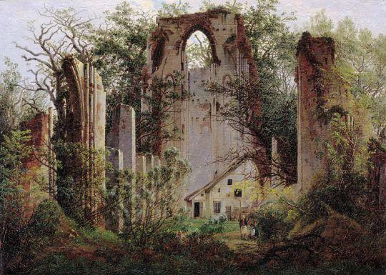 Руины аббатства Эльдена близ Грайфсвальда