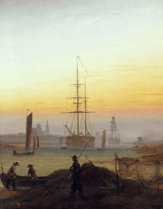 Корабли в  Грайфсвальдском заливе