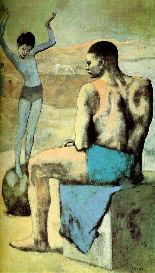 «Девочка на шаре», Пикассо