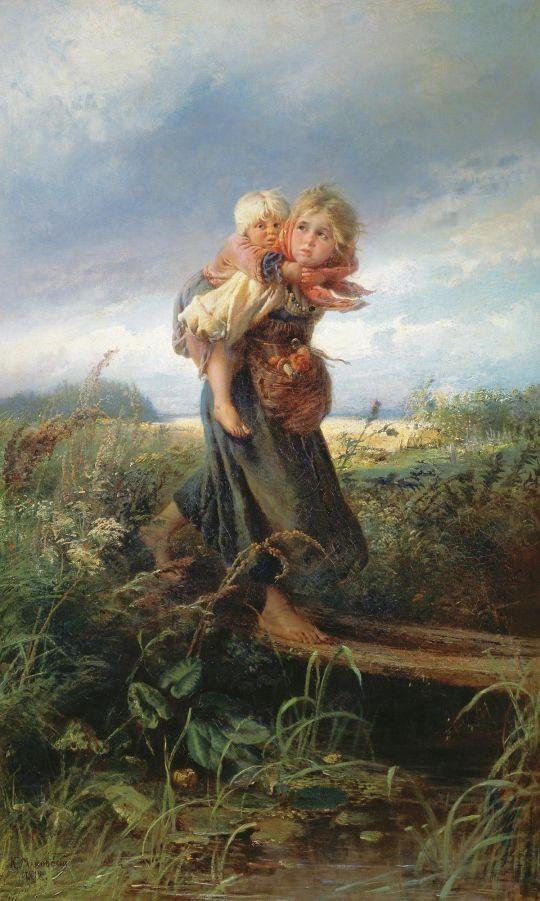 «Дети, бегущие от грозы», Константин Маковский