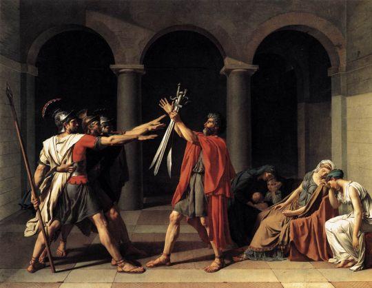 «Клятва Горациев», Жак Луи Давид, 1784, Лувр, Париж