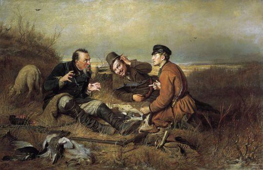 «Охотники на привале», Василий Перов