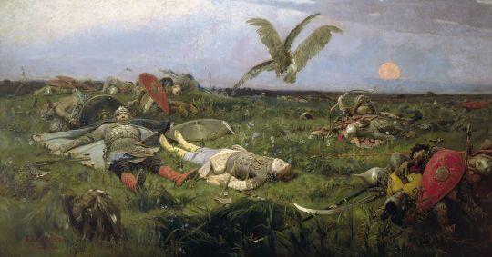 «После побоища Игоря Святославича с половцами», В.Васнецов,
