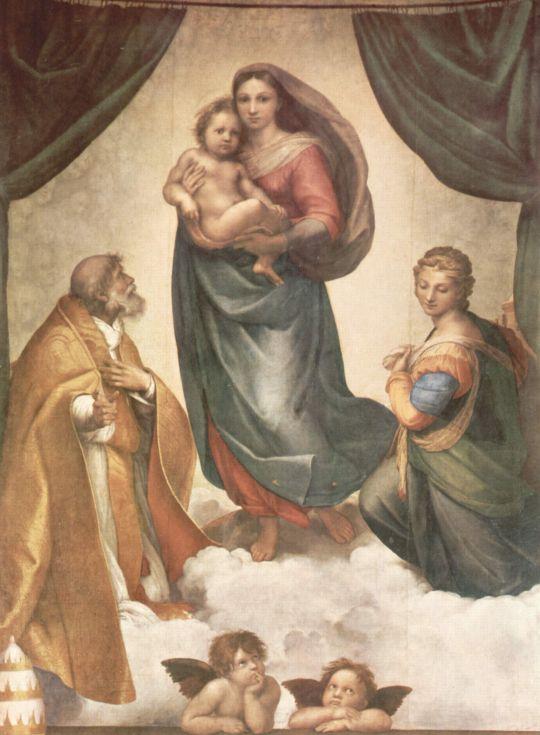 «Сикстинская Мадонна», Рафаэль, 1515,