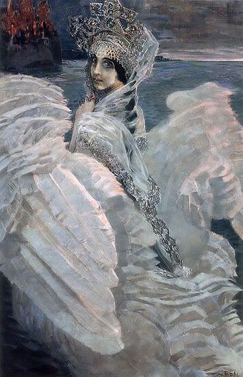 «Царевна-лебедь», Врубель, 1900,