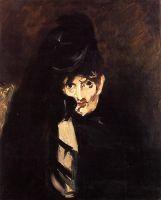 Портрет Берты Моризо в шляпе, в трауре