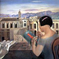 Женщина у окна в Фигерасе
