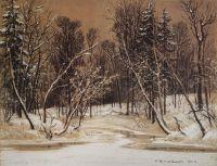 Лес зимой.