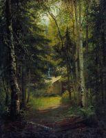 Сторожка в лесу.