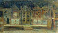 Внутри Петропавловской церкви в Плёсе, на Волге.