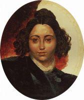 Портрет баронессы И.И.Клодт, жены скульптора П.К.Клодта. Около