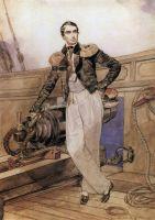 Портрет В.А.Корнилова на борту брига Фемистокл.