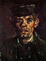 Портрет молодого крестьянина в фуражке
