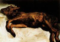 Новорожденные теленок лежащий на соломе