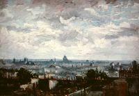 Вид на крыши на Парижа