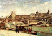 Мост дю Каррузэль и Лувр