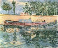 Лодка у берега Сены