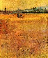 Арль, вид с пшеничных полей