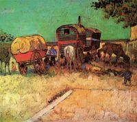 Стоянка цыганского каравана