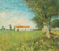 Фермерский дом на пшеничном поле