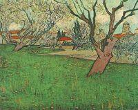 Вид на Арль среди цветущих деревьев