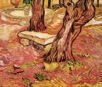 Каменной скамье в саду больницы Сент-Пола