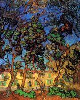 Деревья в саду больницы Сент-Пола