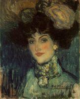 Женщина в шляпе с перьями