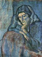 Женщина в голубом.