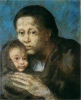 Мать и дитя в косынке.