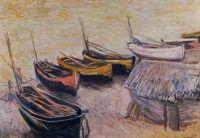 Лодки на пляже в Этрета