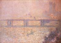 Мост Черинг-кросс, туман на Темзе