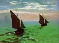 Рыбацкие лодки в море