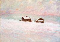 Дома в снегу