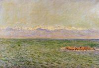 Море и Альпы. Также известный как Средиземное море в Антибе