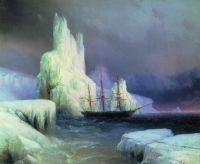 Ледяные горы в Антарктике