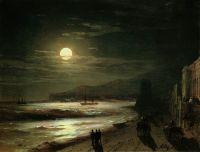 Лунная ночь. Берег моря