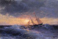 Море. Закат