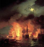 Чесменский бой 25-26 июня 1770 года