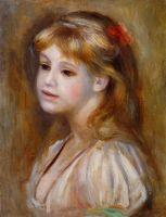 Девочка с красным бантиком в волосах