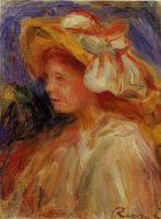 Профиль девушки в шляпе