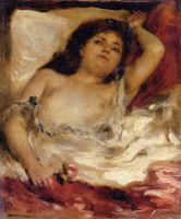 Лежащая полуобнаженная (также известная как Поясной портрет обнаженной девушки)