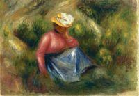 Сидящая девочка в шляпке