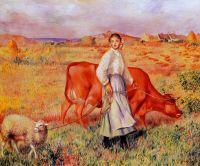 Пастушка, корова и овца