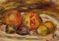 Натюрморт - Гранат, инжир и яблоки