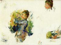 Эскиз - Девочки играющие в бадминтон