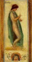 Эскиз женщины в желтой шляпе